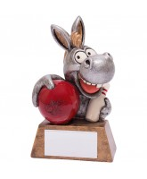 Novelty Donkey Ten Pin Bowling Trophy
