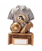 Spirit Football Shirt, Boot, and Ball Trophy