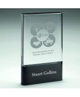 Alpha Clear and Black Crystal Award