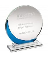 Aquamarine Clear and Blue Crystal Award
