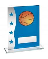 Basketball Crystal Blue Star Award