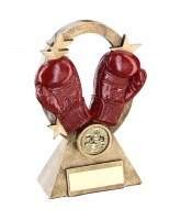Boxing Red Glove Star Trophy