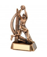 Bronze Resin Basketball Trophy