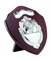 Cherry Wooden Veneer Shield with Scroll