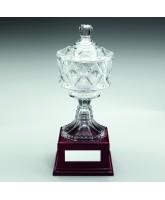 Classic Large Glass Bowl on Black Base