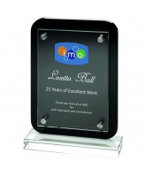 Clear Glass & Back Wood Plaque Printed Full Colour