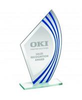 Cobalt Jade Blue Value Glass Award