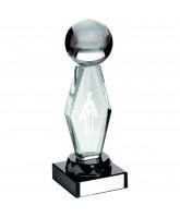 Cricket 3D Laser Engraved Crystal Award
