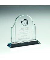 Crystal Art Deco Clock Award