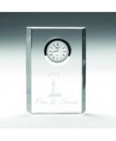Crystal Block Clock Award