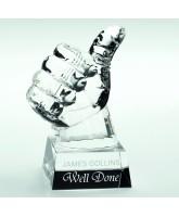Crystal Thumbs Up Award