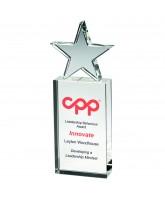 Delta Crystal Block Star Award Printed Full Colour