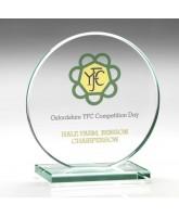 Disc Jade Glass Award Printed Full Colour