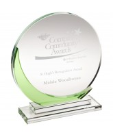 Emerald Clear and Green Crystal Award