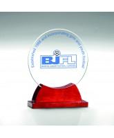 Galactic Jade Glass & Wood Award Printed Full Colour