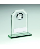 Glass Silver Clock Trophy