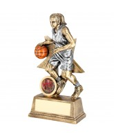 Gold Star Female Basketball Trophy