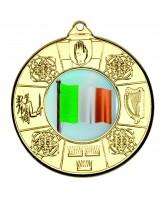 Irish Four Provinces Logo Insert  Gold Medal