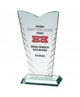 Lynx Jade Glass Bevelled Award Printed Full Colour
