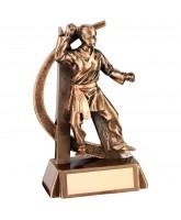 Martial Arts Female Resin Trophy