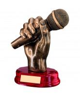 Microphone Singing Trophy