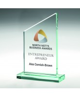 Omega Jade Glass Award Printed Full Colour