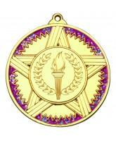 Pink Glittered Star Logo Insert Gold Medal