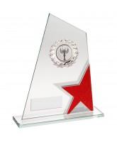 Red Star Jade Silver Crystal Logo Insert Award