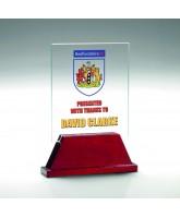 Saturn Jade Glass & Wood Award Printed Full Colour