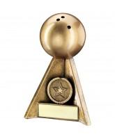Ten Pin Bowling Ball Logo Trophy
