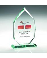 Zeta Jade Glass Award in Wooden Case Printed Full Colour